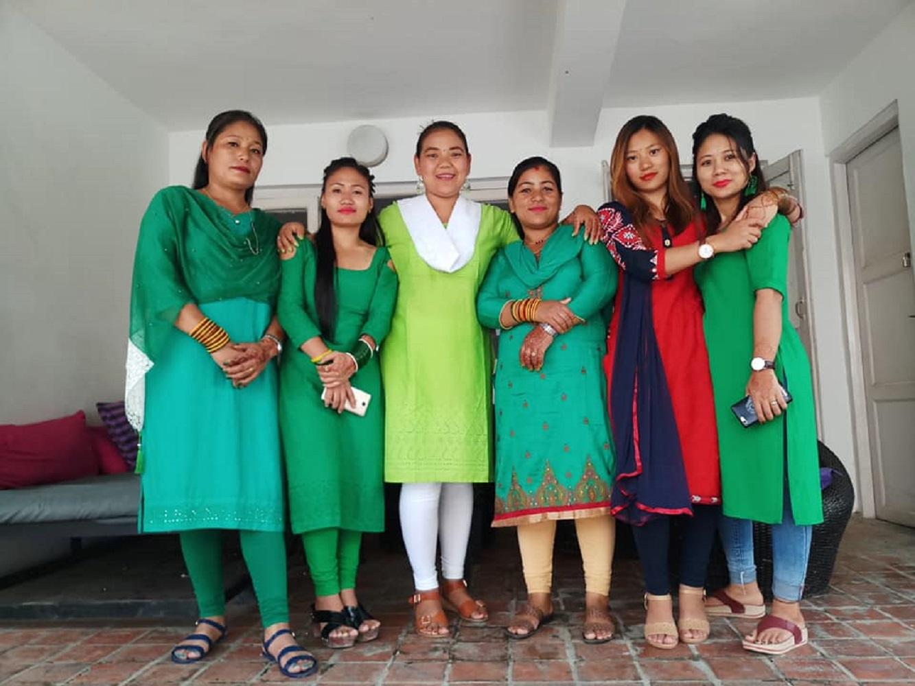 Dorje an her team at Tings Kathmandu